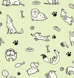 seamless Dogs pattern D vector image vector image