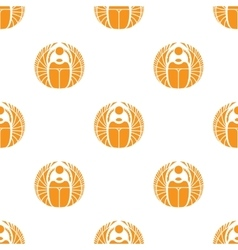 simple orange scarab seamless pattern vector image