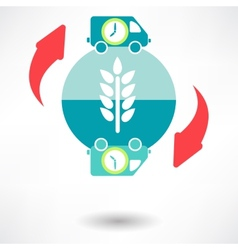 Time delivery icon vector image vector image