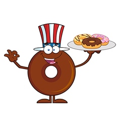 Uncle Sam Donut Cartoon vector image vector image
