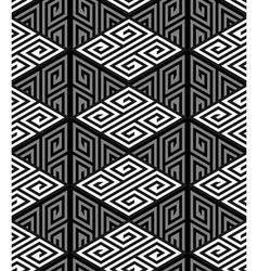 3D Zig Zag Cube Holes Op Art Seamless Pattern vector image
