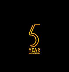 5 year anniversary celebration template design vector