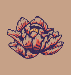 a lotus flower vector image