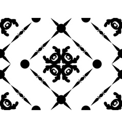 Abstract black ornament vector image