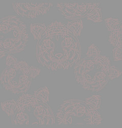 Abstract tiger pattern jungle tropical vector