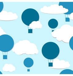 air balloons seamless pattern vector image