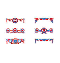 american decor set vector image