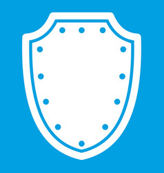 Army protective shield icon white vector