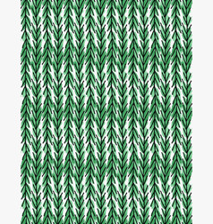 Artistic color brushed vertical green chevrons vector