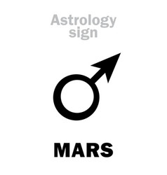 Astrology planet mars male vector