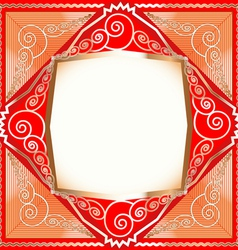 background frame with ornaments vector image