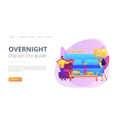 Bed and breakfast concept landing page vector