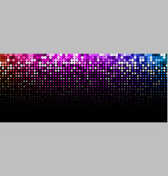 black background with colorful dotted pattern vector image