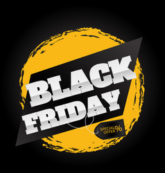 black friday design template vector image