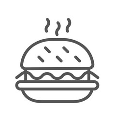 black outlined symbol a hamburger single icon vector image