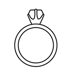Black silhouette of diamond ring vector