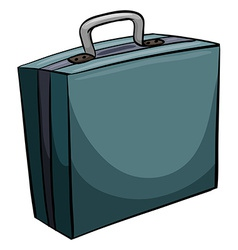 Blue attache case vector