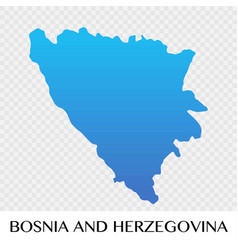 Bosnia and herzegovina map in europe continent vector