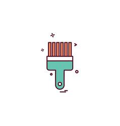 bursh paint icon design vector image