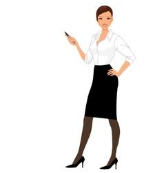 Businesswoman character vector image