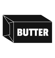 butter icon simple style vector image