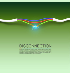 Cable break disconnect art cover vector