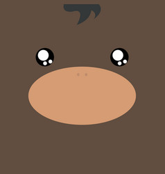 Cartoon bull background vector