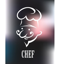 Chef icon on a shiny surface vector