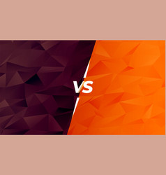 Comparison or battle versus screen in low poly vector