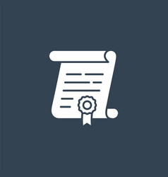 Contract solid icon vector