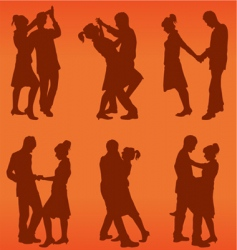 couple dance vector image