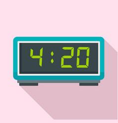 digital alarm clock icon flat style vector image