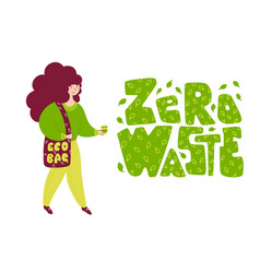 environmentally safe sustainable lifestyle flat vector image