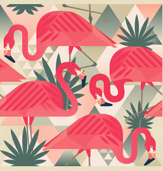 Exotic beach trendy seamless pattern patchwork vector