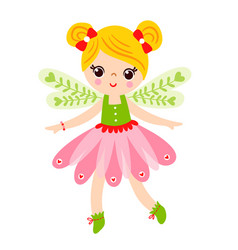 fairy is standing on a white background and vector image
