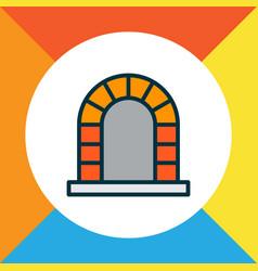 Fireplace icon colored line symbol premium vector