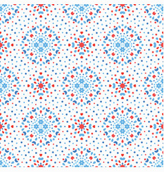 Flower dot pattern blue red boho vector
