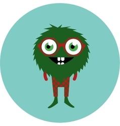 freaky cute retro hipster alien monster vector image