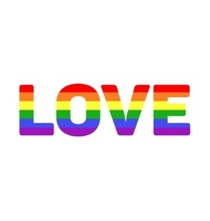 gay LGBT rainbow love word vector image