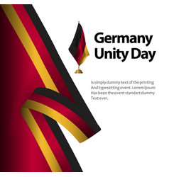 Germany unity day flag template design vector
