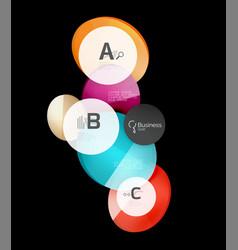 Glossy glass circles speech bubble on black vector