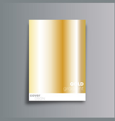 gold gradient cover background for the banner vector image