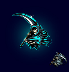 grim reaper or angel death vector image