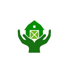Help farm logo icon design vector
