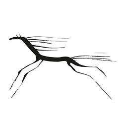 Horse tiny drowing vector