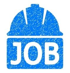 Job Helmet Grainy Texture Icon vector