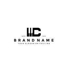 Letter c piano logo design vector