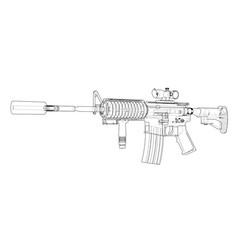 Machine gun rendering 3d vector
