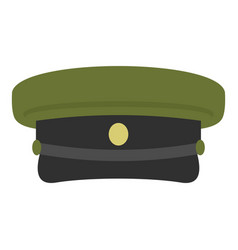 Military hat icon isolated vector