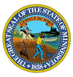 Minnesota state seal vector